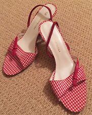 New Studio Paloma Red Gingham Sandals sz 37