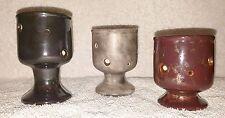 """Set of 3 Ceramic 4""""-3.5""""-3"""" Orchid Bonsai Cactus Succulent Flower Pot Planter"""