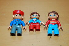 Lot of 3 Lego Duplo Family Mom Dad Girl