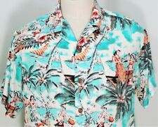 New listing Vintage Avanti Hawaii Tiki Polynesian Hula Girls Hawaiian Beach Aloha Shirt M