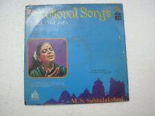 DEVOTIONAL SONGS IN 10 LANGUAGES M.S.SUBBULAKSHMI marathi kannada malayalam vg+