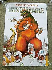 Bob Conge Original Poster Rare Syracuse Lacrosse Godzilla Unstoppable SIGNED