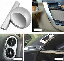 Silver Brushed Chrome Decal Vinyl Wrap Car Vehicle Stickers Film Interior Decor