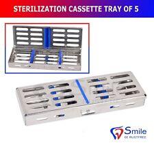 Sterilization Cassette Rack Tray Holds 5 Dental Surgical Instrument Autoclave CE