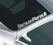 Porque Renault Parabrisas Auto Adhesivo Clio Megane calcomanía 35