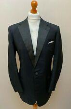 Vintage Huntsman black mohair Savile row dinner jacket size 44