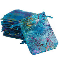 EB_ 25/50Pcs Coralline Organza Jewelry Pouch Wedding Party Favor Gift Bag