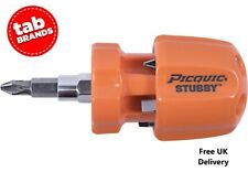 PICQUIC STUBBY Multi Bit Screwdriver Ideal for the Kitchen drawer Orange Opaque