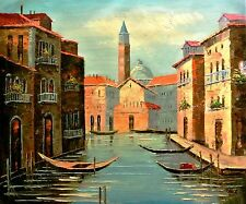 """Tom L-""""Daylight In Venice""""-Orig Oil Painting on Canvas,Hand Signed by the Artist"""
