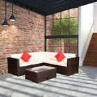 4pc Outdoor Rattan Sectional Cushioned Sofa W/table Patio Garden Furniture Set