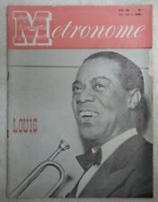 Vintage Metronome Music Magazine April 1949 Louis
