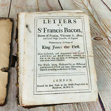 New listing Letters of Sr Francis Bacon, Baron on Verulam, Viscount St. Alban