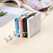 Mini Portable Power Bank Battery Charger 5000-10000 mAh for Phone Built-in plugs
