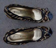 Franco Barbiere womens pony fur high heel shoes sz 8 B