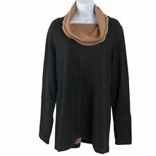 Ibex Sweater Cowl Neck Merino Wool Nylon Long Sleeve Women's Xl Flawed