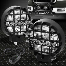 "6"" ROUND BLACK HOUSING CLEAR FOG LIGHT/OFFROAD SUPER 4X4 GUARD WORK LAMP+SWITCH"