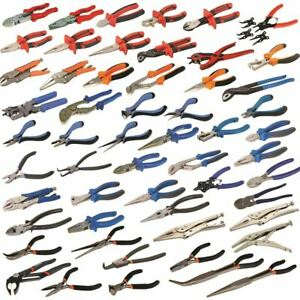 Pliers Cutter Electrician Mechanic Plumber Circlip Long Nose Combination Punch