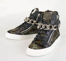 New. GIUSEPPE ZANOTTI London Camuf Hi-Top Sneakers Shoes Size 6 US 39 EU $1300
