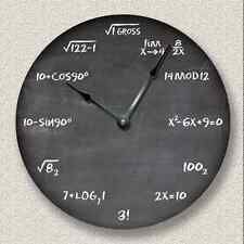 MATH Wall CLOCK - Chalkboard - Teacher Student Classroom_FT