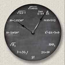 MATH Wall CLOCK - Chalkboard - Teacher Student Classroom - 7022_FT