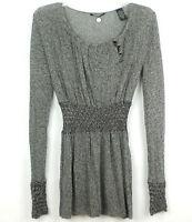 BUCKLE BKE Boutique KNIT TUNIC TOP Dress Gray SIZE M MEDIUM