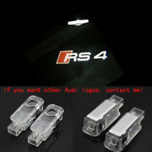 Audi RS4 Logo LED Laser Projector Car Door Welcome Ghost Courtesy Shadow Lights