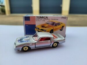 Tomica F42 - PONTIAC FIREBIRD TRANSAM [SILVER] MINT VHTF MADE IN JAPAN