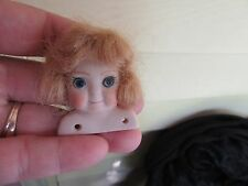 Bisque Miniature flat Doll Head to make into magnet/no magnet