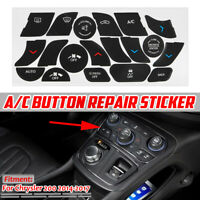 AC Dash Button Repair Kit Climate Control Decal Stickers For Chrysler 200