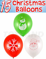 15 x CHRISTMAS BALLOONS XMAS PARTY SCHOOL FAIR GROTTO DECOR TOY STOCKING FILLER