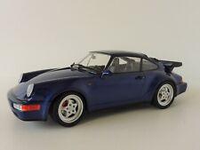 PORSCHE 911 Turbo 1990 BLUEMETALLIC 1/18 Minichamps PMA 155069101 964