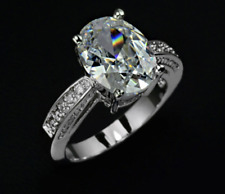 5 Carat Oval Cut Fashion Anniversary Band Ring White Gold Plated Bridal Size 5-9