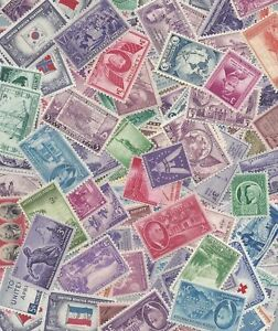 US Stamps lot, Packet of 25 MNH stamps from the 1930's through 1960's /  MNH