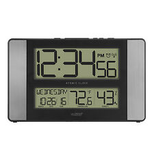 513-1417H-AL La Crosse Technology Atomic Digital Wall Clock IN Temp Refurbished