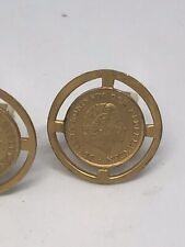 Gold Dutch Coin Cufflinks
