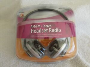 Radio Shack Am/FM Stereo Headset Radio - NEW IN PACKAGE