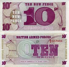 GREAT BRITAIN 10 Pence World Money MILITARY Voucher pM48 British Armed Force