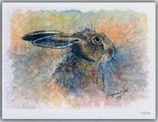 Hare Art Print Painting Limited Edition Signed From Original by Suzanne Le Good