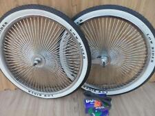 "20"" Lowrider Bicycle Dayton Chrome Wheels & White Walls 140 Spoke Front & Rear"
