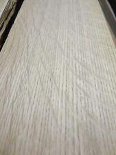 """White Oak Quartered Flake wood veneer 5"""" x 96"""" raw no back 1/42"""" thickness AA"""