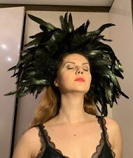 Black Feather Headwear Headdress Rave Festival Boho Raven Carnival Samba Dance