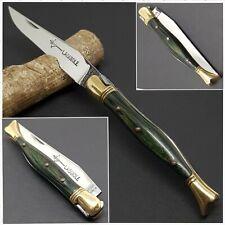 Couteau LAGUIOLE JAMBETTE ARBALÈTE G.DAVID 12C27 ressort guilloché-Pocket knife