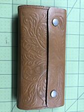 Vintage leather fly fishing wallet / flies
