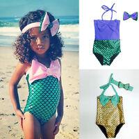 filles enfant Sirène Baignable maillot de bain bikini Natation bandeau