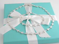Auth Tiffany & Co Silver Star Necklace Bracelet Set