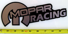 "Mopar Racing! Very Bold! Silver on Black HQ Vinyl Sticker Decal 9"" x 3.4""!"