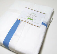 Pottery Barn 400 Thread Count Morgan French Blue King Cal King Duvet Cover New
