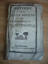 HISTOIRE DE LA BELLE HELENE DE CONSTANTINOPLE DECKHERR MONTBELIARD 19° SIECLE