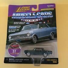 Johnny Lightning Muscle Cars USA Blue #37 1965 Chevy II Nova