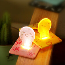 6xPortable Pocket Purse Wallet Folding Card Bulb Night Light Led Lamp Party Gift